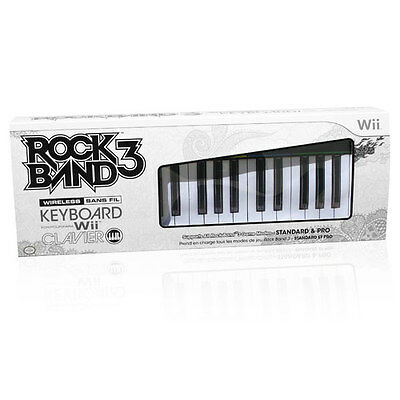 Nintendo Wii Rock Band 3 Wireless Keyboard Clavier Mad Catz Rockband Sealed