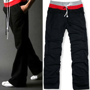 Trendy-Mens-Tracksuit-bottoms-jogging-Trousers-casual-Long-pants-Home-Wear