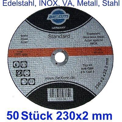 Disco de Corte 230x2mm para Acero Inoxidable Metal Acero V2A VA-50 Pieza