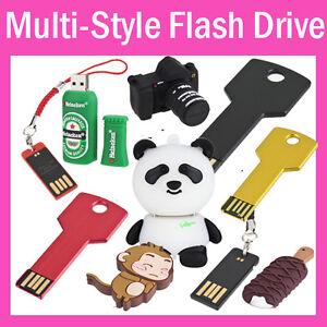 Multi-Style-4G-8G-16GB-USB-2-0-Metal-Car-Key-Flash-Memory-Drive-Pen-Stick-Thumb