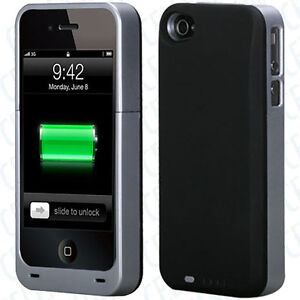 2400-mAh-Silver-QUANTUM-BATTERY-POWER-EXTENDER-PROTECTIVE-CASE-Apple-iPhone-4-4s