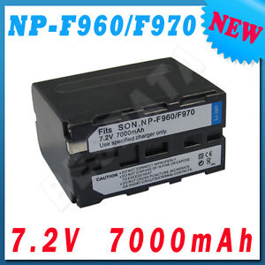 For Sony NP-F970 NP-F960 NP-F330 NP-F730 NP-F750 New 7.2V 7000mAh Camera Battery