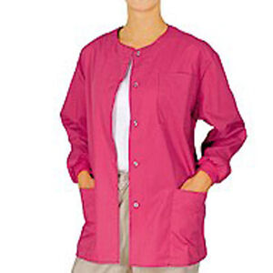Medical-Nursing-NATURAL-UNIFORMS-Scrubs-Warmup-Jacket-XS-S-M-L-XL-2XL-3XL-sizes