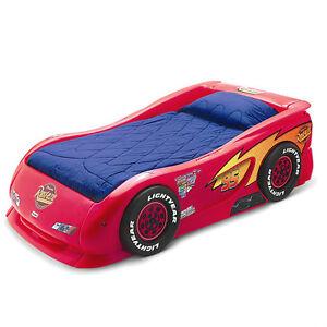 disney cars lightning mcqueen toddler bed ebay. Black Bedroom Furniture Sets. Home Design Ideas