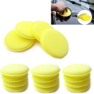 12 x Waxing Polish Wax Foam Sponge Applicator Pads For Clean Car Vehicle Glass