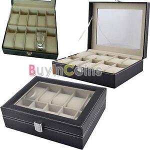 10-Slots-Watch-Display-Storage-Box-Holder-Organizer-Windowed-Show-Case-Gift