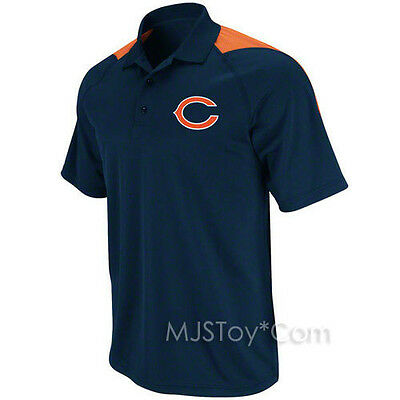 Nfl Chicago Bears Stylish Men Navy Polo Jersey Shirt Embroidered Team Logo