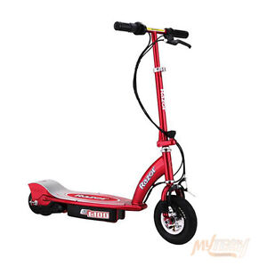 RAZOR-E100-ENVIRONMENT-FRIENDLY-MOTOR-POWERED-ELECTRIC-SCOOTER-E175-RED