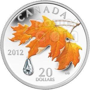 SUGAR-RAINDROP-Crystal-Swarovski-Silver-Coin-20-Canada-2012