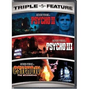 PSYCHO 2 3 4 DVD COLLECTION 2 DISCS ANTHONY PERKINS HITCHCOCK TRIPLE FEATURE R1