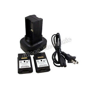 New-Charger-Rechargeable-Cable-Kit-2-Battery-Pack-for-Xbox-360-3600mAh-US