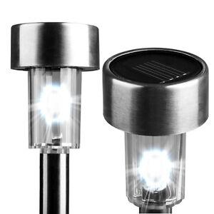 New-Solarek-Model-43-Stainless-Steel-Outdoor-Solar-Lawn-and-Garden-Lights-12pcs