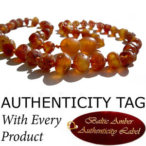Authentic RAW BALTIC AMBER NECKLACE Baby Teething
