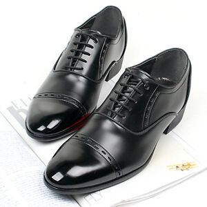 New-Mens-Stylish-Dress-Formal-Casual-Mens-Oxford-Shoes-Black