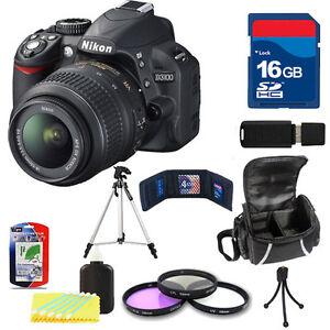 Nikon-D3100-Black-w-18-55mm-VR-Lens-16GB-Filter-Kit