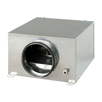 """10"""" Acoustic In Line Fan Temp & Speed Control - Hydroponic Grow Room 1300 M3h"""