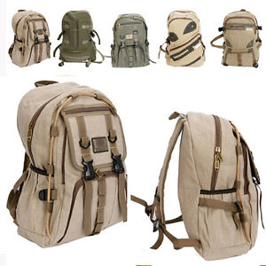 New-Stylish-Canvas-Travelling-Outdoor-Men-Backpack-Bag-School-Bag-Unisex-Bookbag