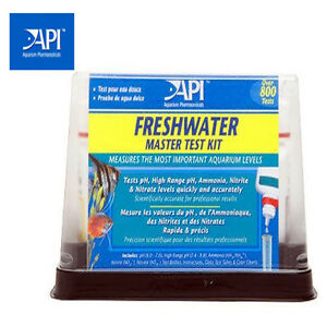 NEW API Aquarium Fish Master Freshwater Test Kit , Nitrate, Nitrite, PH, Ammonia