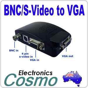 CCTV Camera BNC/4 Pin.S-Video/VGA PC Input to VGA Output Converter Switch BOX