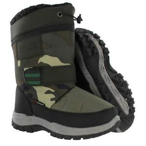 BOYS-WINTER-BOOTS-KIDS-SNOW-APRES-SKI-WARM-FUR-THERMAL-SCHOOL-BOOTS-SHOES-SIZE