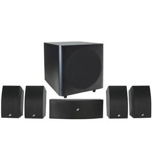 NEW-5-Speaker-Surround-Sound-Home-Theater-Set-w-10-Powered-Subwoofer-Wall-Mount