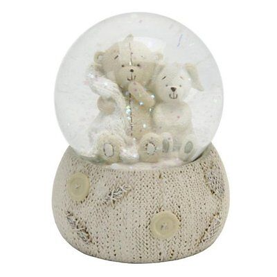 Button Corner Baby Teddy Resin Snow Globe in Gift Box CG751