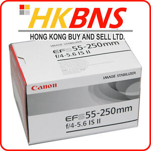 Canon EF-S 55-250mm f/4-5.6 IS II 55-250 for 7D 60D 600D 650D Kiss X4 X5 ~ NEW