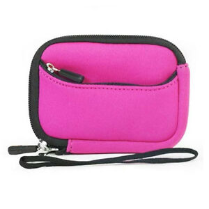 Soft-Neoprene-Pouch-Sleeve-Carry-Case-Pink-Bag-Garmin-RoadMate-1200-1210-1212