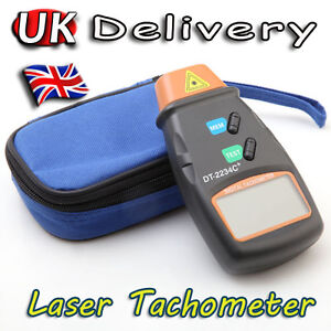 New Digital Laser Photo Tachometer Non Contact RPM Tach