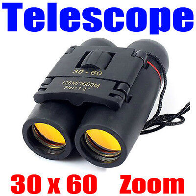 30 x 60 Zoom Outdoor Travel Folding Day Night Vision Binoculars Telescope Climb