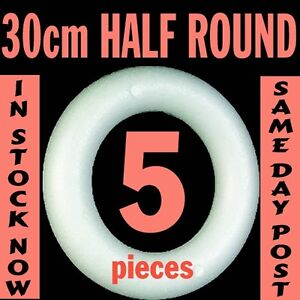 Craft Festive Polystyrene HALF Rings Wreath 5pcsx 30cm
