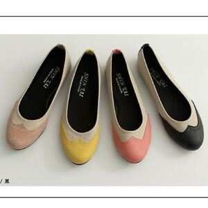 BN-Classic-Two-Tone-Ballerinas-Ballet-Flats-Espadrilles-Loafers-Shoes-Oxfords