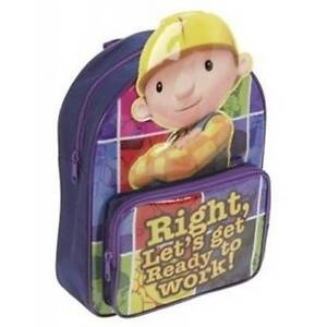 Bob the Builder 'Right let's get to work' 3D Image Backpack Bag
