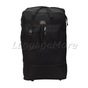 40-Black-Large-Rolling-Wheeled-Duffel-Bag-Spinner-Suitcase-Duffle-Bag-Luggage