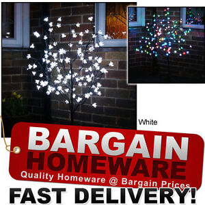 1.5m LED CHERRY / BLOSSOM TREE - WHITE / MULTI COLOUR - IN / OUTDOOR CHRISTMAS