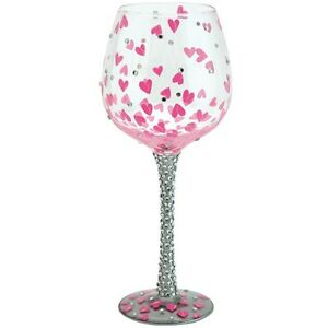 Lolita Love My Wine PRETTY GIRL Super Bling Wine Glass