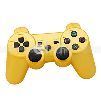 Wireless Bluetooth Game Controller for Sony Playstation 3 PS3 Yellow on Rummage