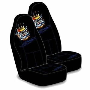 2 NEW DODGE INTREPID NEON ED HARDY BULLDOG BUCKET SEAT