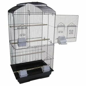 Large Tall Canary Parakeet Cockatiel LoveBird Finch Bird Cage 6803 Black-123