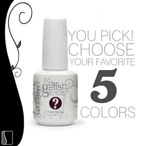 CHOOSE 5 Gelish UV Gel Harmony Manicure Soak Off Color Coat Gel Nail Polish .5