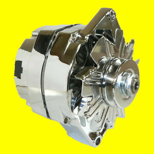 100-NEW-CHROME-ALTERNATOR-Chevy-110-AMP-One-Wire-65-85