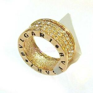 Fashion Jewelry 18K White Gold & Yellow Gold Plated Swarovski Crystal Ring