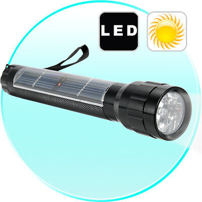 Solar Powered 7 LED Flashlight Camping Torch
