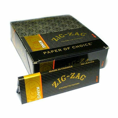 ZIG ZAG KING SIZE ROLLING PAPERS Cigarette 24 Packs Booklets 100mm Full Box on Rummage (1/1)