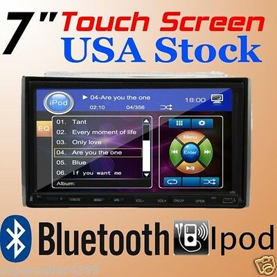 "7"" In dash 2 Din Car DVD Player Radio Ipod TV BT DIVX MPEG USB HITACHI Head Unit on Rummage"