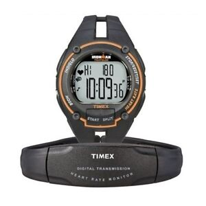 Timex-Ironman-Road-Trainer-Heart-Rate-Monitor-Watch-100-Meter-WR-Black-T5K212