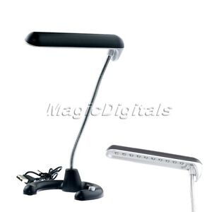 Flexible USB 10 LED Desk Reading Light Lamp For PC Laptop