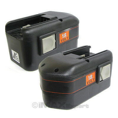 2 x 3.3AH 18V 18 VOLT BATTERY ...
