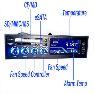 5-25-Front-Panel-All-Card-Reader-CPU-Fan-Temp-Speed-Control-Controller-ESATA