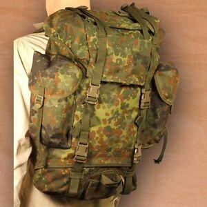 BACKPACK/RUCKSACK-GERMAN ARMY- FLECKTARN CAMO-VG-EX-USED MILITARY ...